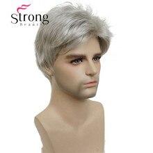 StrongBeauty Kurze Silber grau Perücke Herren Kurze Synthetische Haar Perücken FARBE ENTSCHEIDUNGEN