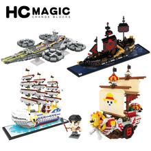 HC MAGIC Diamond Spaceship Beluga Black Pearl Thousand Sunny Assembly Model Building Blocks Children Birthday DIY Toys Gifts(China)