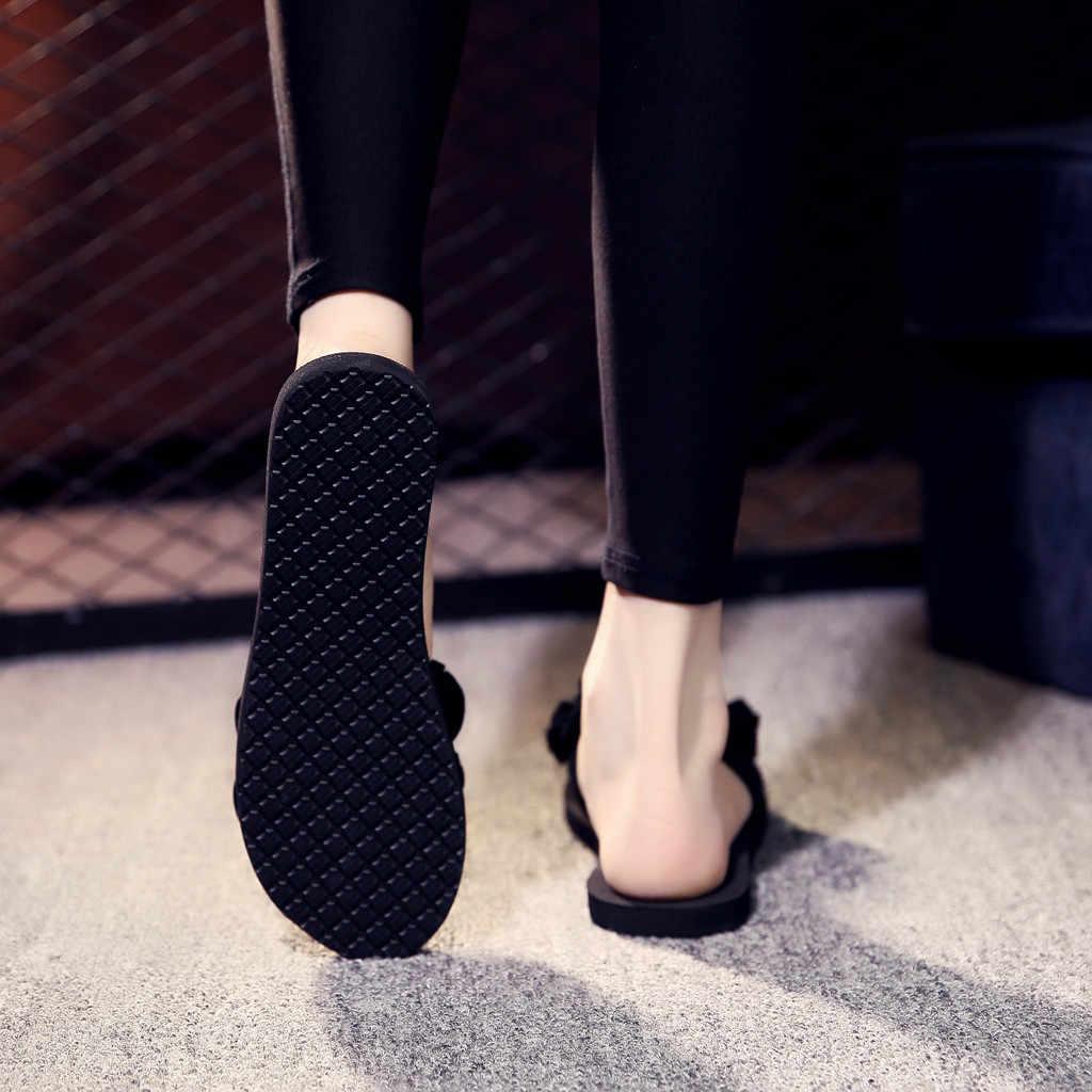 Sleeper #501 2019 FASHION Women's Bohemian Flower Flat Slippers Summer Sandals Non-slip Beach Shoes home casual Free Shipping