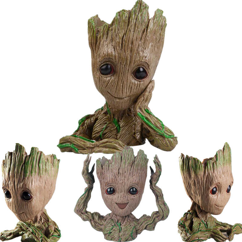 New Guardians Of The Galaxy Avengers Action Figure Modelo Toy Bebê Árvore Homem Phoneholder Macetero Caneta Vaso Plantador de Vaso de Flores