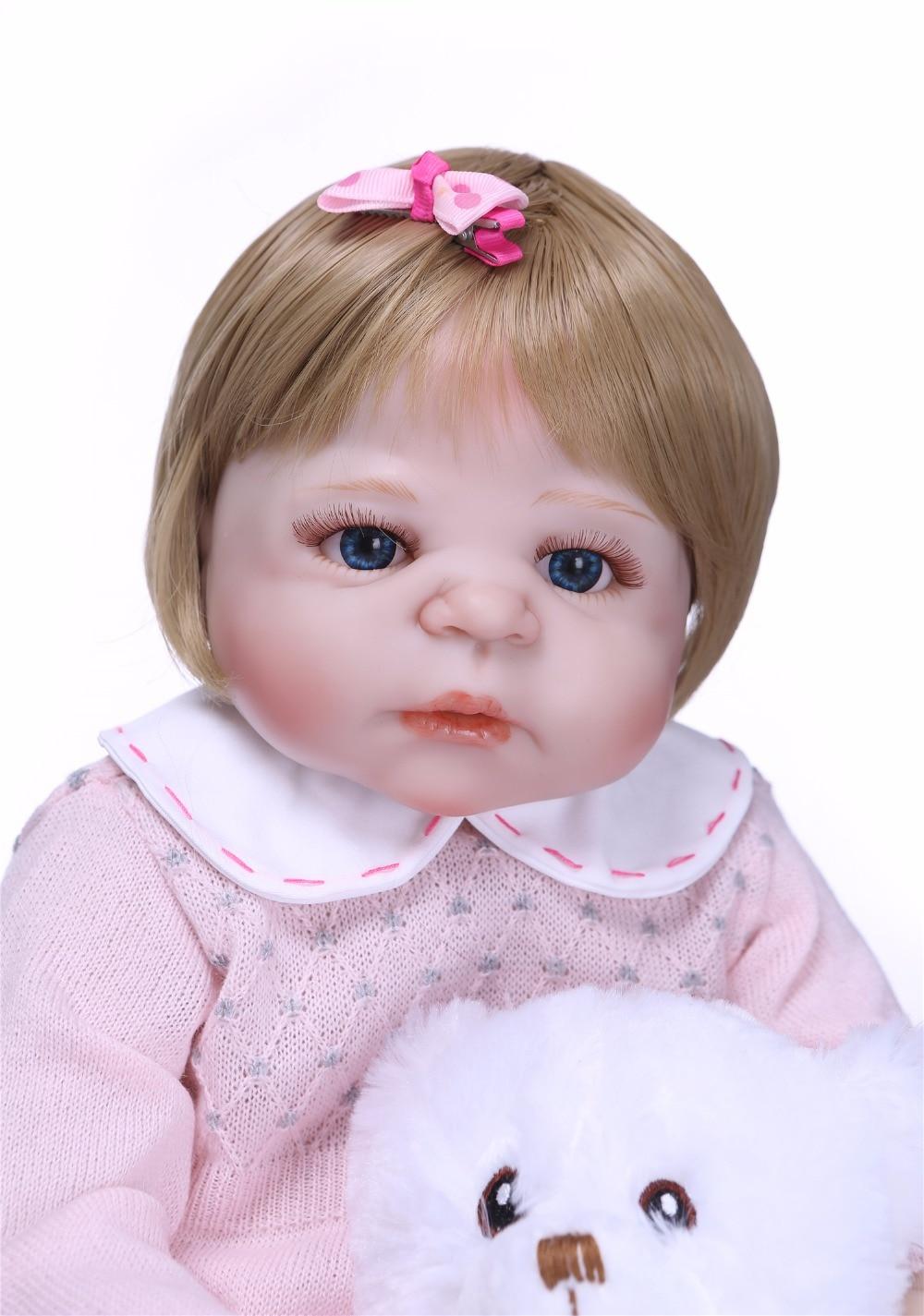 NPK 55 centimetri Newarrival bambola Realistica del Silicone Pieno Bambola Del Bambino Rinato In Vendita Realistico Bebe Alive Dolls Bambini Compagno di Giochi di Natale regali-in Bambole da Giocattoli e hobby su  Gruppo 3