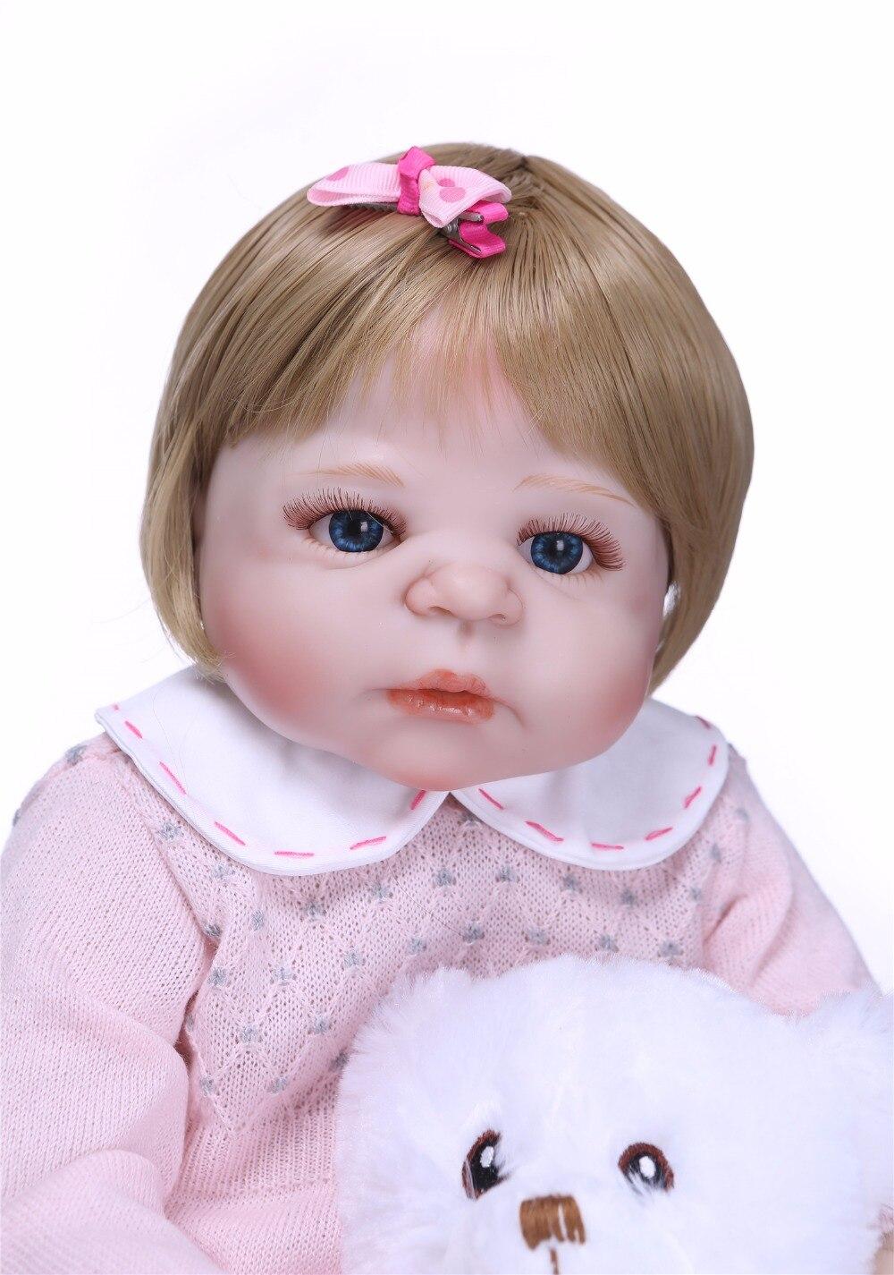 NPK 55 cm Newarrival lalki realistyczne pełna silikon Reborn Baby doll na sprzedaż realistyczne Bebe żywe lalki dla dzieci Playmate Xmas prezenty w Lalki od Zabawki i hobby na  Grupa 3