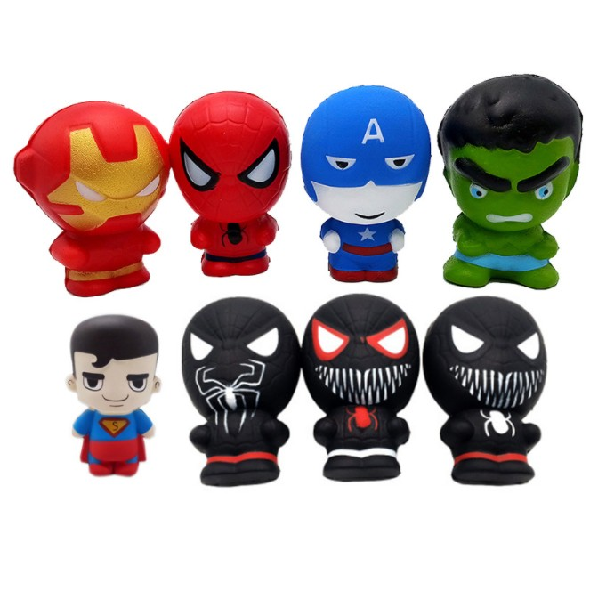 Rising Iron Man Spider  Hot Sale Super Hero Squishy Slow Man Hulk Captain America Toy Jumbo Squeeze Stress Relief Toys YH1713
