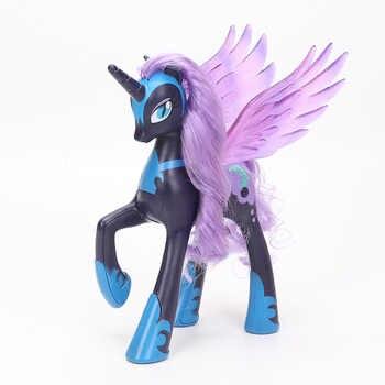 22cm My Little Pony Toys Princess Celestia Glitter Luna Rainbow Dash Princess Cadance PVC Action Figures Collectible Model Dolls