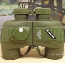 full covered compass military binoculars 10×50,  LLL night vision stabilized rangefinder binoculars for voyage  powerful quality