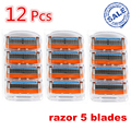 12pcs/pack FP Brand New mache 5 Layer shaving Machine Barber Knives Rzaor System Sharpener Shaver Sharp Razor Blade for Men