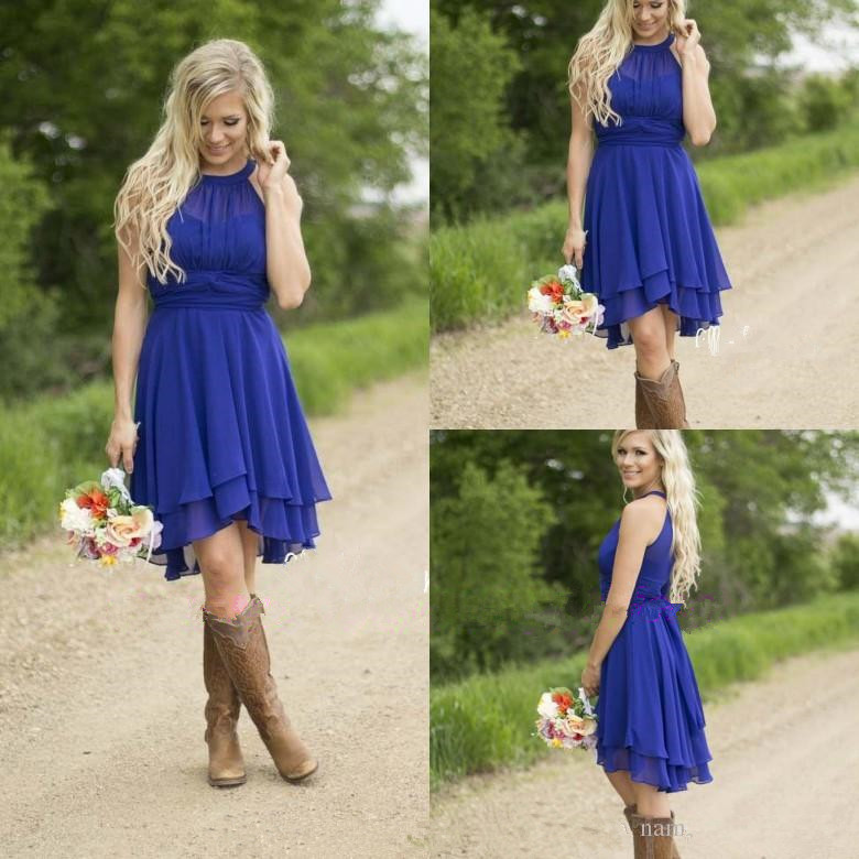 Online Get Cheap Blue Country Bridesmaid Dresses Scoop -Aliexpress ...