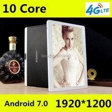Новые Android 7.0 Дека Core 10 »Планшеты PC 4 ГБ Оперативная память 64 ГБ Встроенная память дюймов 1920×1200 8MP 6000 мАч WI-FI GPS 4 г LTE Бесплатная доставка