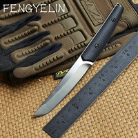 FENGYELIN Slay VG 10 Blade G10 Handle Fixed Blade Tactical Hunting Knife KYDEX Sheath Camping Survival