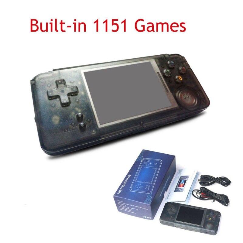 3.0 Pouces Console Intégré 1151 Jeux Différents Nostalgie Rétro Console de jeu portable soutien NEOGEO/GBC/FC/CP1/CP2 /GB/GBA