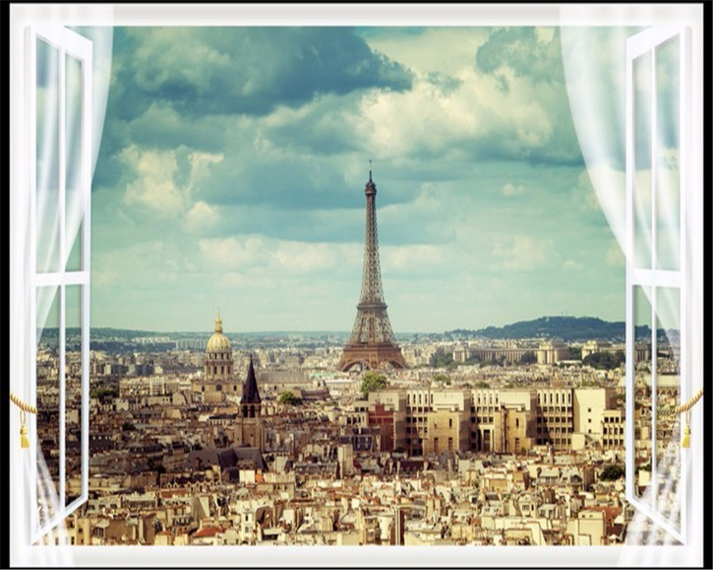 Beibehang Large Wallpapers Paris Eiffel Tower City Architecture