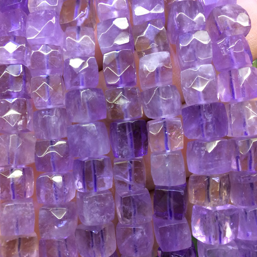 square shape ametrine beads natural gemstone beads DIY spacer beads for jewelry making strand 15