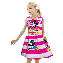 Girls Dresses 2016 Summer Style Minnie Dress 2-7Y Kids Clothes Party Dresses For Girls Fashion Vetement Fille Princess Costume
