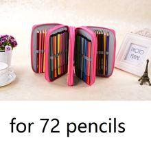 Чехол для карандашей с 72 держателями тканевый чехол большой