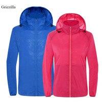 Grizzilla UV בגדי הגנה מפני שמש מעיל חיצוני מעיל רוח עמיד למים גברים ונשים מעילי גשם דיג קמפינג קרם הגנה