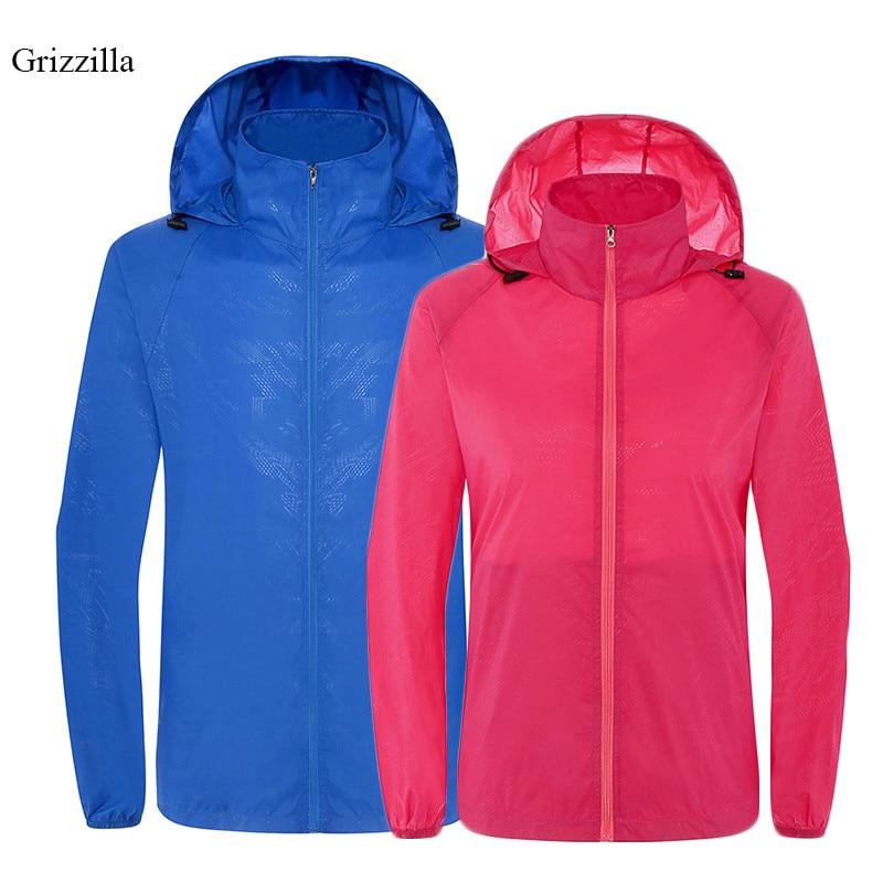 Grizzilla <font><b>UV</b></font> Sun Protection <font><b>Clothing</b></font> Outdoor Windbreaker Waterproof Coat Men and Women Sunscreen Camping Fishing Rain Jackets