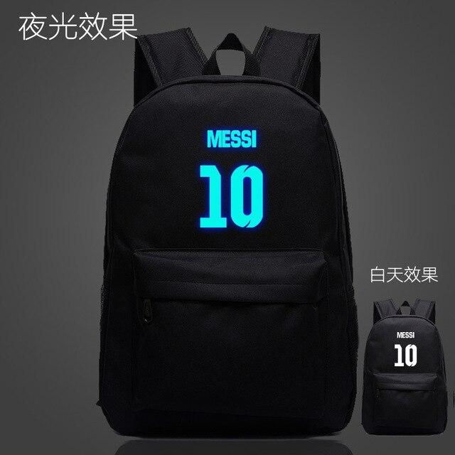a8f640448caf Super Quality School Bag Logo Messi Backpack Bag Men Boys Travel Gift Kids  Bagpacks Mochila Bolsas