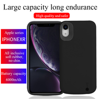 High Quality 6000 mah External Battery Charger For iPhone XR Power Bank Pack Charging Case Shell