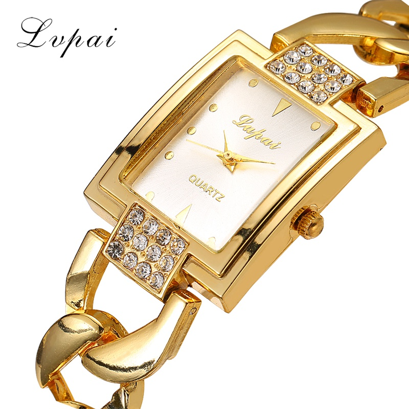 Lvpai Fashion Brand Women Watch Rhinestone Gold Full Steel Quartz Wristwatch Women Dress Gift Luxury Fashion Lady Watches XR1101 rhinestone sk top luxury brand steel quartz watch fashion women clock female lady dress wristwatch gift silver gold motre femme