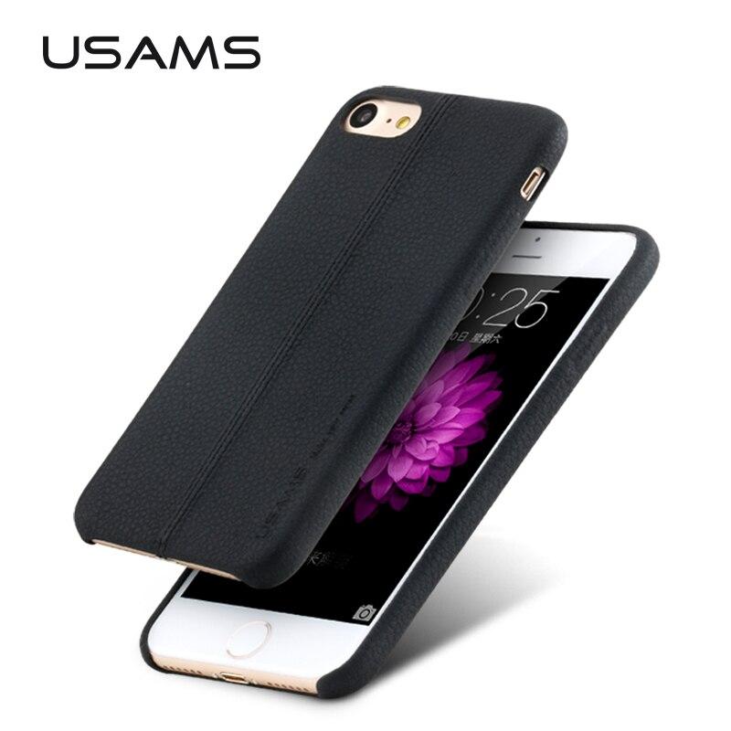 Joe serie usams lujo pu leather case para el iphone 7 plus case 5.5 cubierta cas