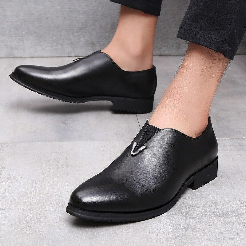 Marca De Negro Los Mpx8116116 Cuero Manera Resorte Alta Cómodo Hombres Calidad Del La Diseñador Zapatos Genuino CxqXvBxw4