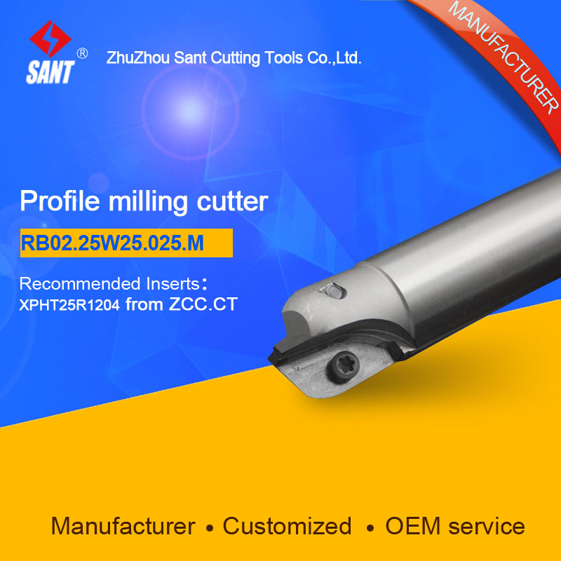 Milling tools Indexable milling cutter Match insert XPHT25R1204 Profile cutter cutting disc RB02.25W25.025.M/BMR03-025-XP25-M