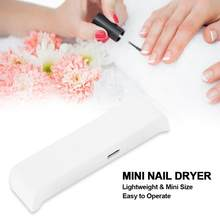 Portable Mini Nail UV Light Therapy Machine LED Nail Dryer Nail Polish Art Tools For Nails(China)