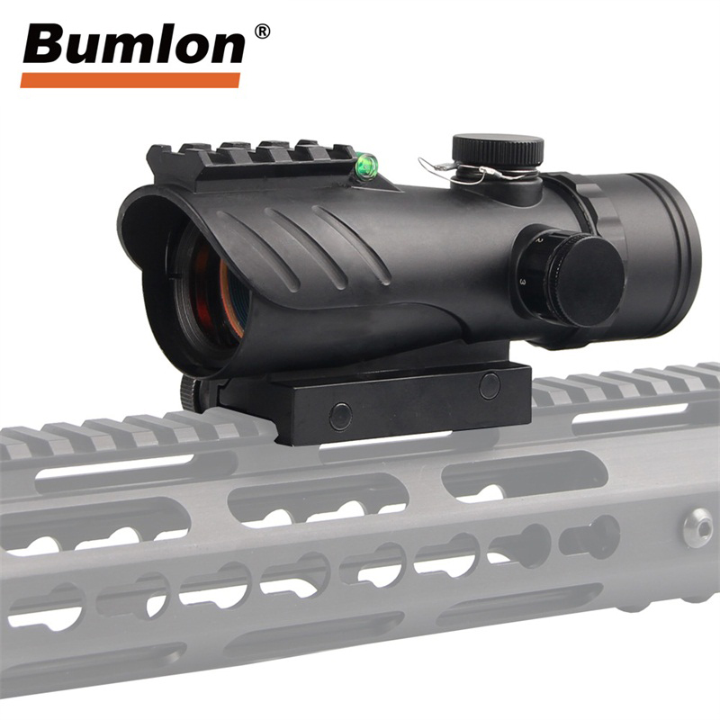New Acog Reflex Scope Titacal Red Dot Sight With Bubble Level 20mm Rail Mount RL5-0050 Red Dot Sight For Hunting Airsoft Rifle