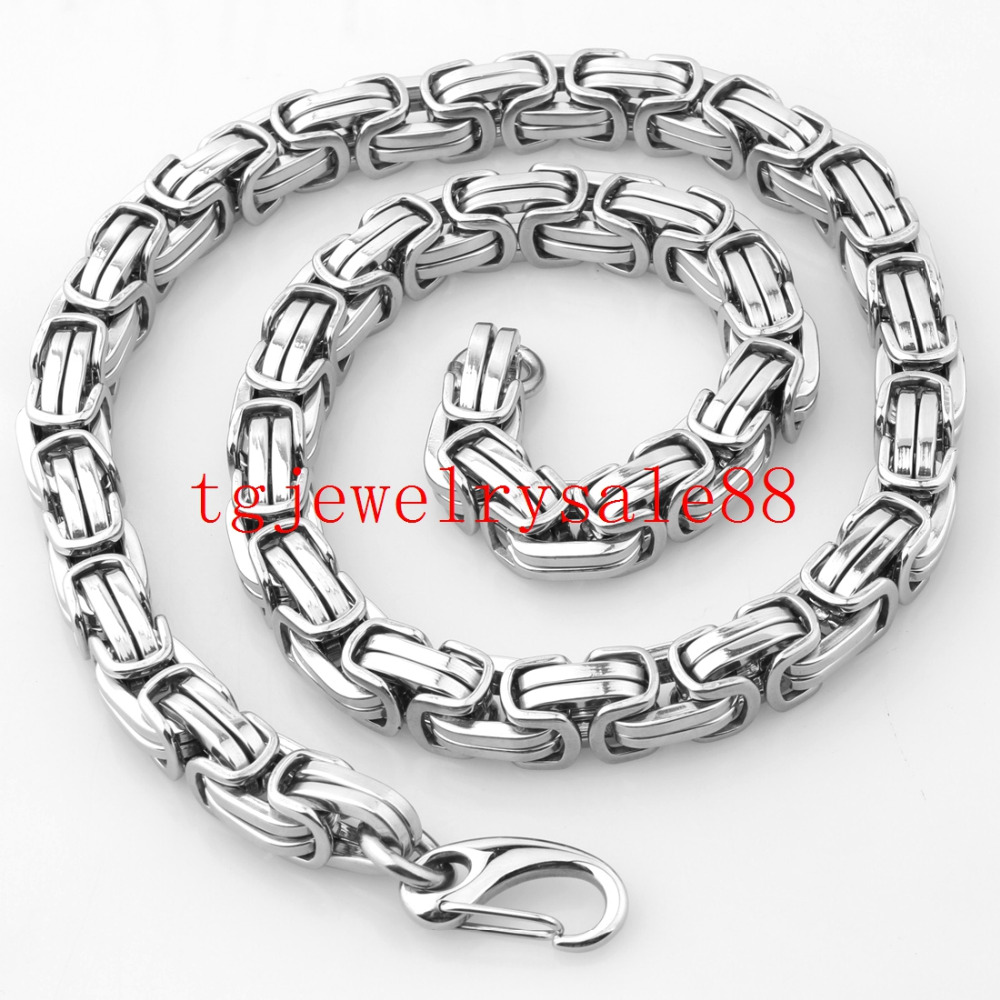 sterling silver bracelets necklaces necklace sizes chains byzantine collections heavy flat chain products
