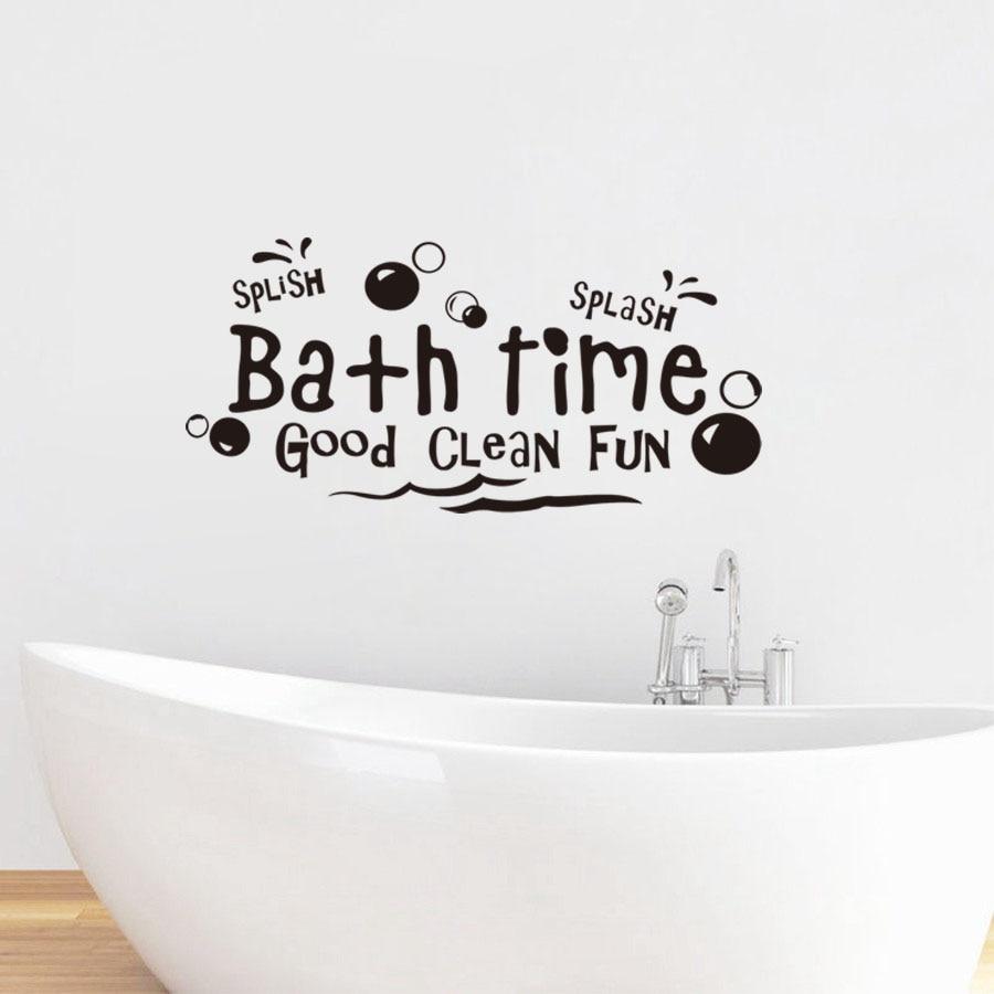Splish Splash Bath Time Bathroom Shower WC Bath Decal Wall Art Sticker Picture