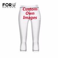 FORUDESIGNS Customized Printing Fashion Elastic Women Leggings Brand Fitness Pencil Pants Breathable Female Calf Length Pants