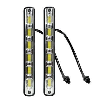 2 шт. COB светодиодный автомобильный DRL дневный ходовой свет Водонепроницаемый 6 светодиодный s 7 W DC 12 V Авто Вождение дневной свет Противотуман... >> LEEPEE Car- Accessories Store