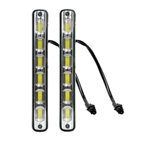 2Pcs COB LED Car DRL Daytime Running Light Waterproof 6leds 7W DC 12V Auto Driving Day
