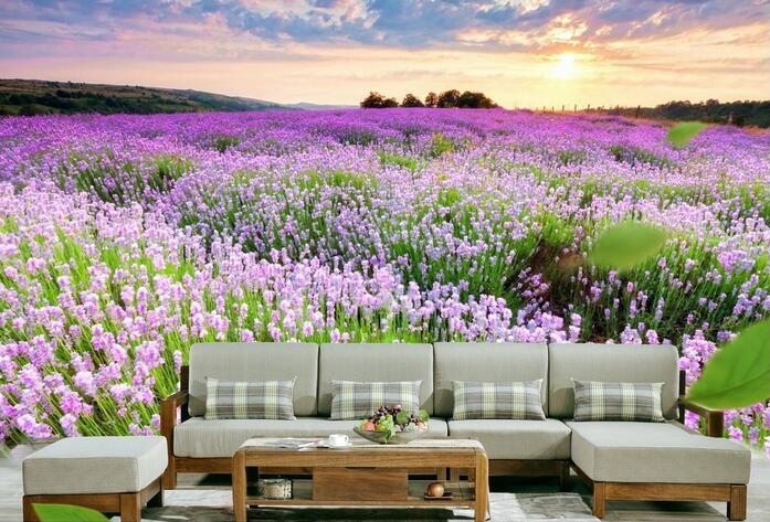 3d wallpaper custom mural non-woven 3d room wall paper sticker 3d Lavender garden sunset painting photo wallpaper for walls 3 d 3d room wallpaper custom mural non woven wall sticker 3 d scenery suspension bridge porch paintings photo wallpaper for walls 3d