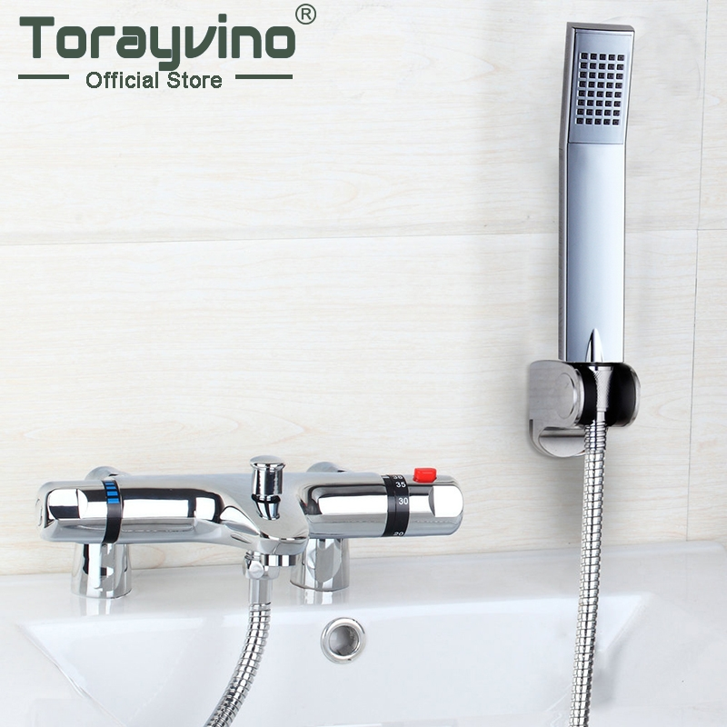 Contemporary Simple Delicate Shower Faucet Auto-Thermostat Control Wall Mounted Chrome Polished Hot Cold Water Excellent Mixer china sanitary ware chrome wall mount thermostatic water tap water saver thermostatic shower faucet