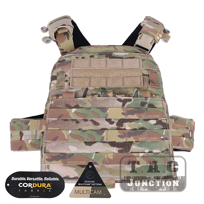 Emerson Tactical Adaptive Vest AVS Plate Carrier EmersonGear Body Armor AVS Harness + Plate Pouch Set + Front MOLLE Flap