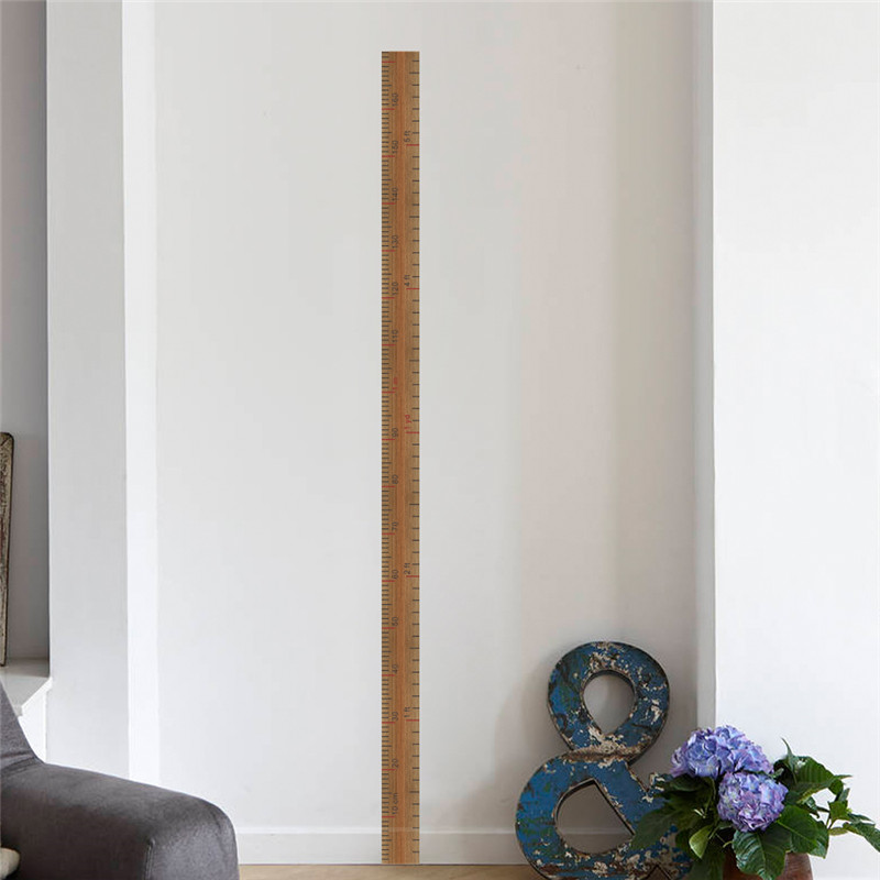 ruler height measure wall stickers for kids rooms childrens home decor growth chart poster mural wall decal