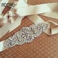 Champagne New Free Shipping Crystal And Rhinstone wedding Belt beautiful diamond handmade formal dresses bridal sashes