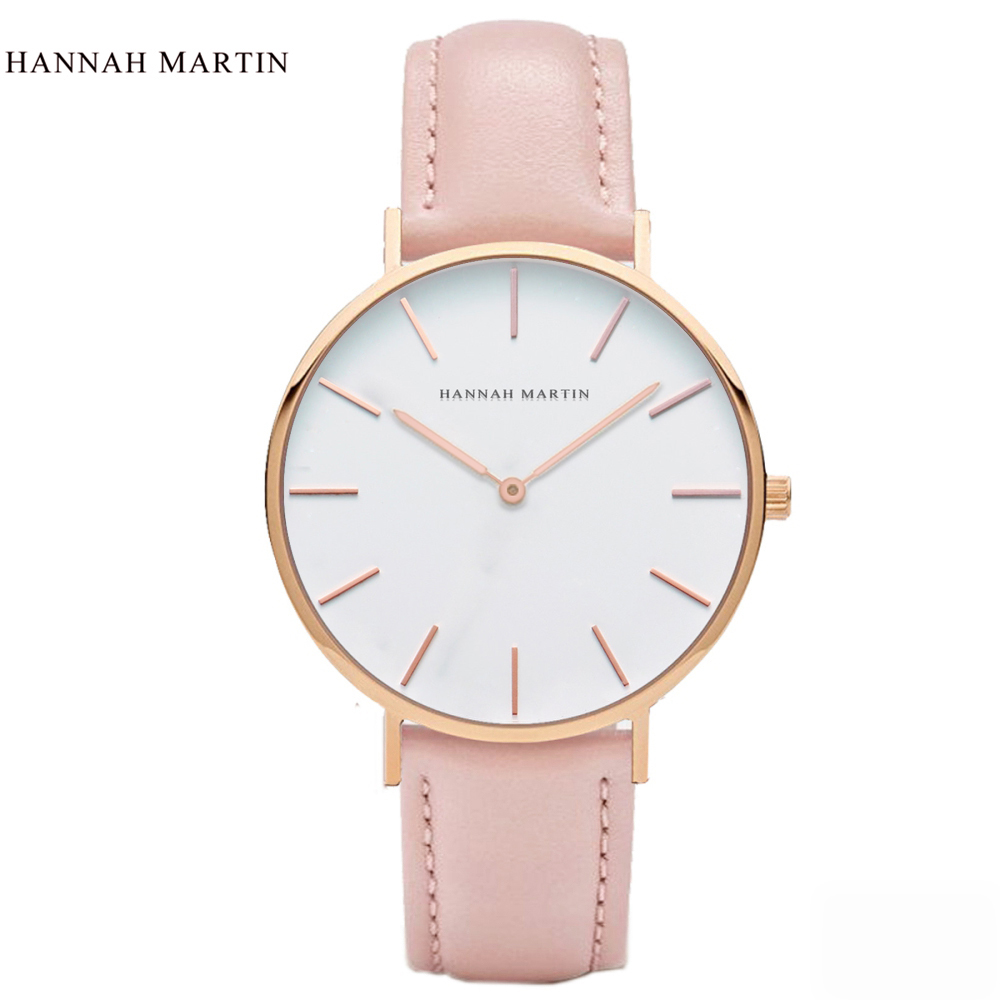 New Watch Women Hannah Martin Brand Luxury Fashion Casual Quartz Unique Stylish Hollow Skeleton Watches Nylon Sport Wristwatches in Women 39 s Watches from Watches