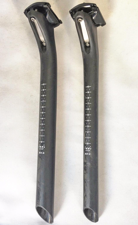 Le plus nouveau VTT carbone tige de selle pleine fibre de carbone vélo tige de selle route vtt pièces 27.2/31.6*350/400mm 25mm offset marbre
