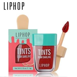 1Pcs LIPHOP Long-Lasting Lip Tint 5 Colors Liquid Lipstick Batom Rouge A Levres Labial Matte Lip Gloss Sexy Tattoo Cosmetic(China)