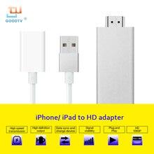 ТВ-карты ключ hdmi Одежда высшего качества ТВ-карты кабель ТВ кабель Поддержка airmirror AirPlay только для IOS Apple IPhone iPad Ipod 1080 P
