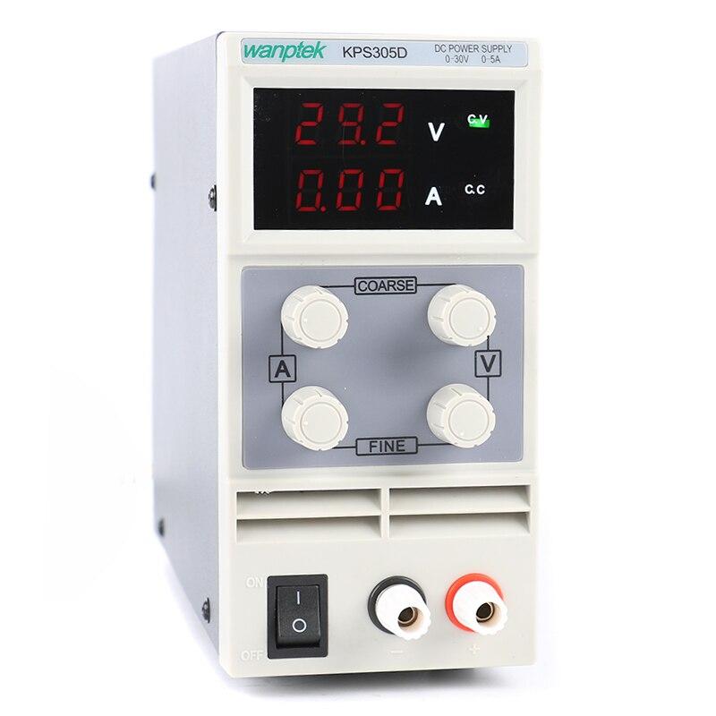 Оптовая продажа 10 шт./компл. мини Регулируемый источник питания постоянного тока KPS305D 30V 5A импульсный источник питания US/EU/AU разъем 110/220V