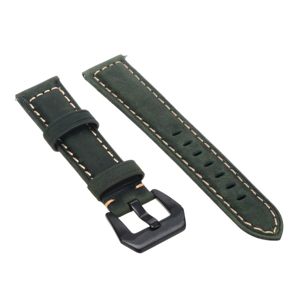 Shelhard 1pc New Quality Genuine Leather Watch Band Strap For Samsung Galaxy Watch 42 /46mm Universal Quick Replacement Straps