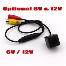 5V 6V 12V автомобильный Камера голова без держателя, видео Мощность провода/HD обратный резервный заднего вида для парковки Камера