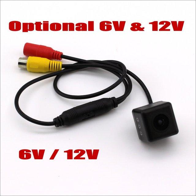 Liislee 5 V 6 V 12 V cabeza de la cámara del coche sin soporte, cables de alimentación de vídeo/cámara de aparcamiento de visión trasera de respaldo inverso HD