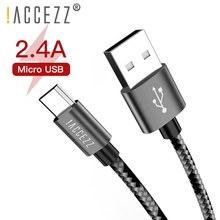 !ACCEZZ USB Charging Sync Cable Micro For Xiaomi Redmi 4X 4A Samsung Galaxy S7 S6 Huawei Android Fast Charge Cables
