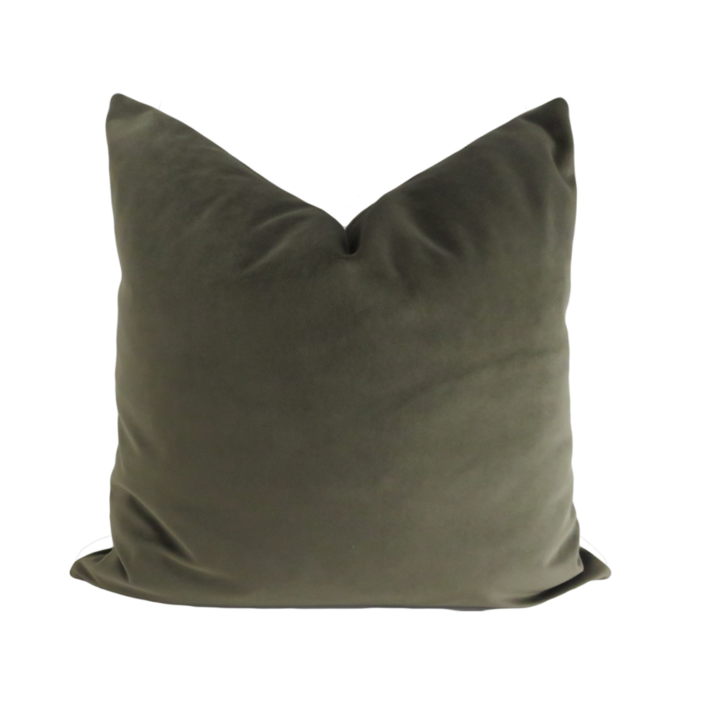 ESSIE HOME Luxury Moss Green Dark Green Cojín Funda de almohada Lumber Pillow Case Velvet