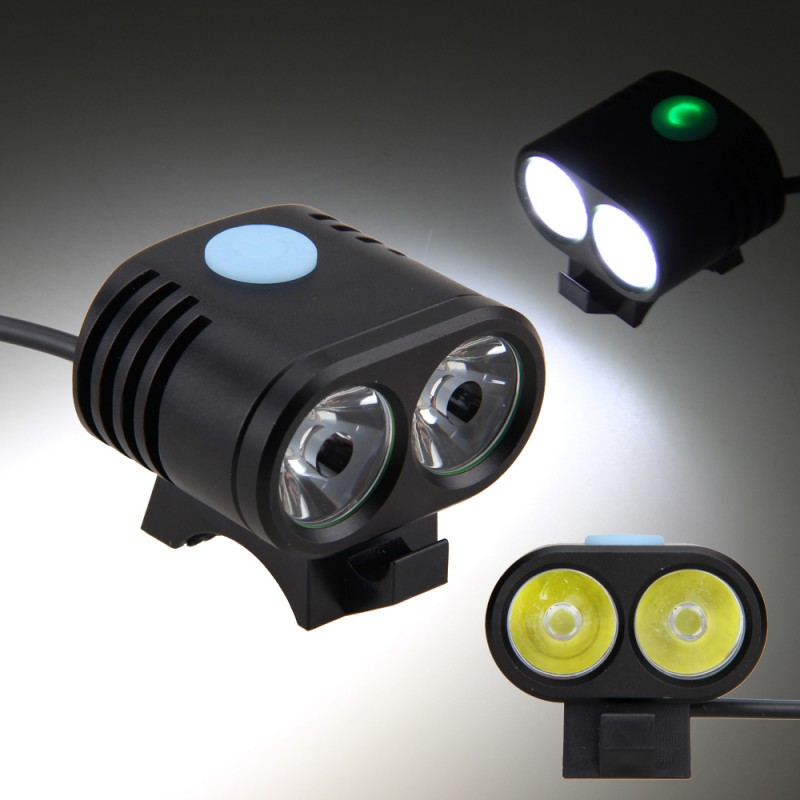 5000LM Bike Front Light Bicycle LED Lamp Headlight Flashlight Battery Powered