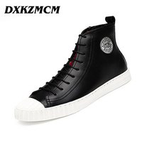2016 New Handmade Men PU Leather Autumn Winter Boots High Quality Winter Men Boots Ankle Martin
